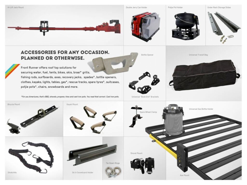 Frontrunner roofrack accessoires