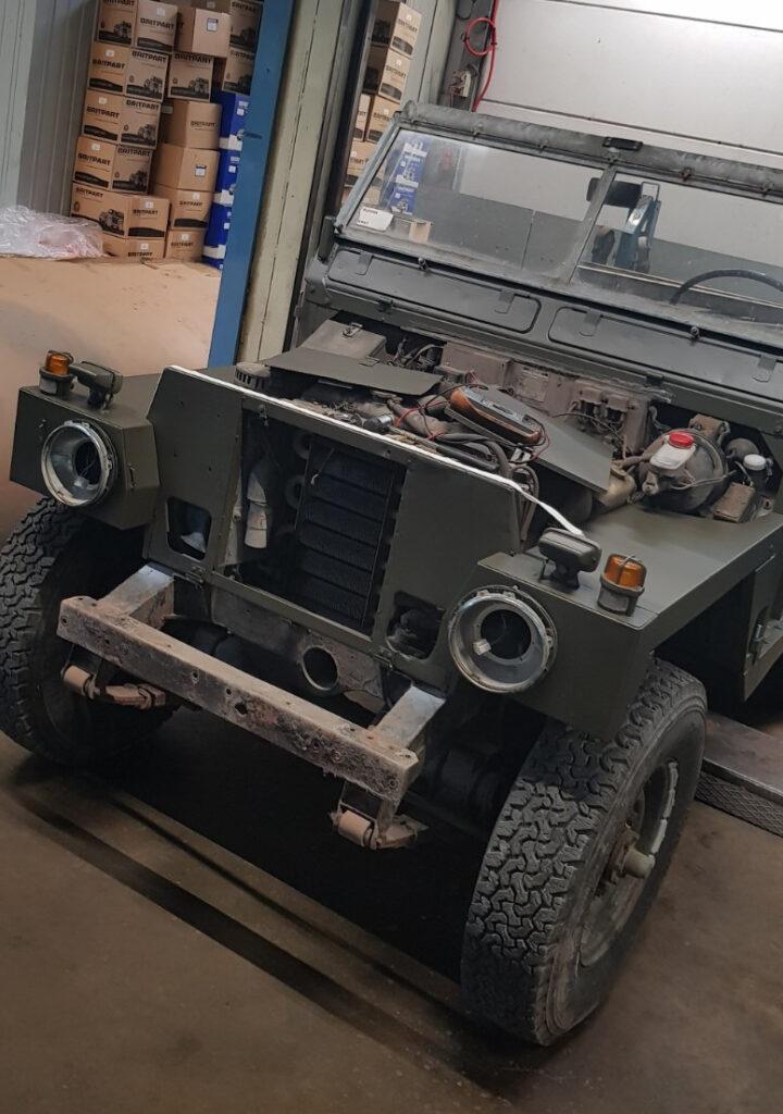 restauratie Land Rover series 3 Light Weight