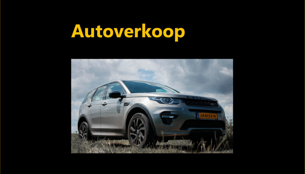 tegel Land Rover autoverkoop