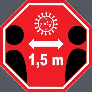 houdt afstand logo
